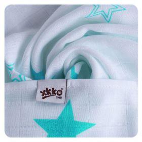 Bambusové pleny KIKKO Silver Stars MIX 70x70cm - 3ks
